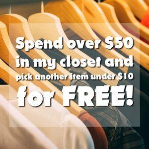 Spend $50, get $10 free!